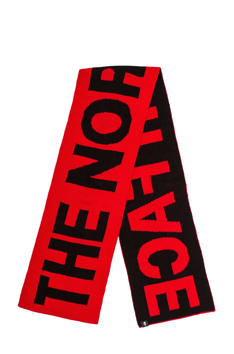 The North Face Logo Scarf in TNF Red & TNF Black