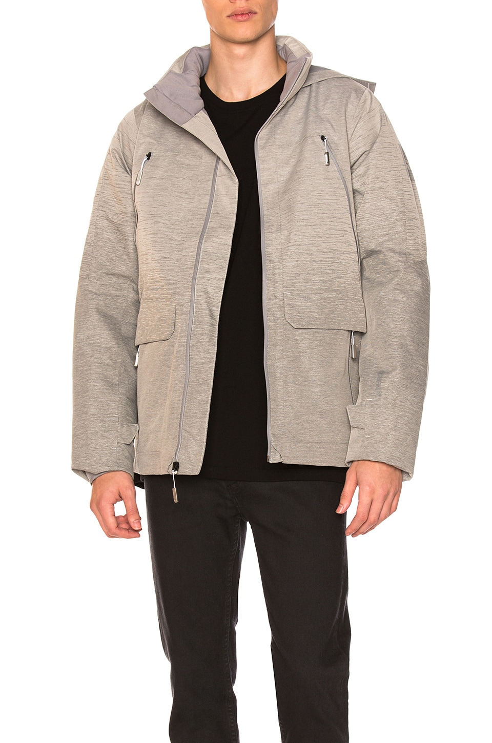 The North Face Cryos GTX Jacket in Mid Grey Gradient Jacquard