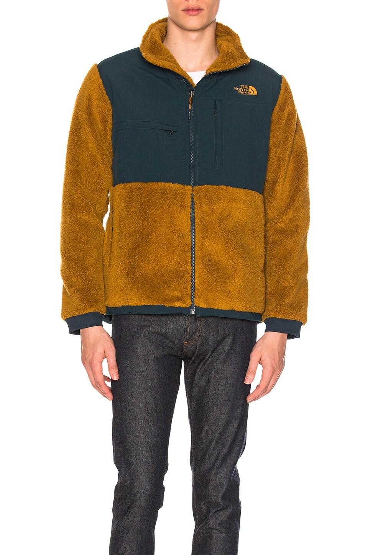 2b726fd82 The North Face Novelty Denali Jacket in Golden Brown Sherpa & Kodiak ...