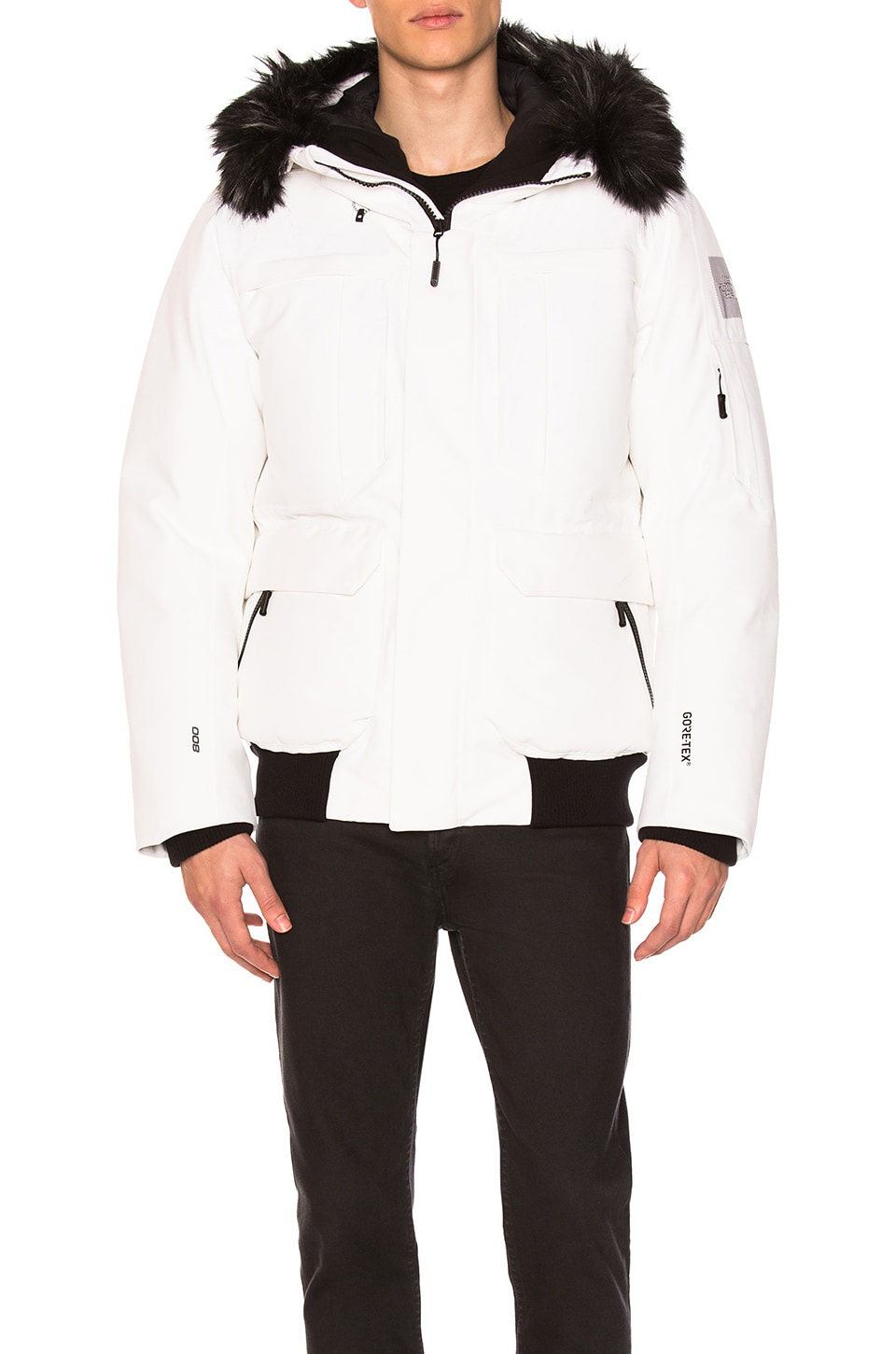 136bab23c The North Face Cryos Expedition GTX Bomber With Faux Fur Trim in TNF ...