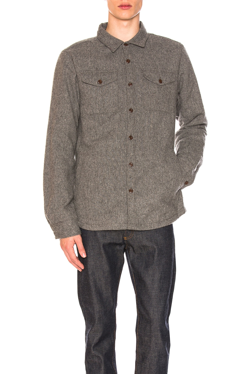 195a09aa6 The North Face Cabin Fever Wool Shirt in TNF Medium Grey Heather ...