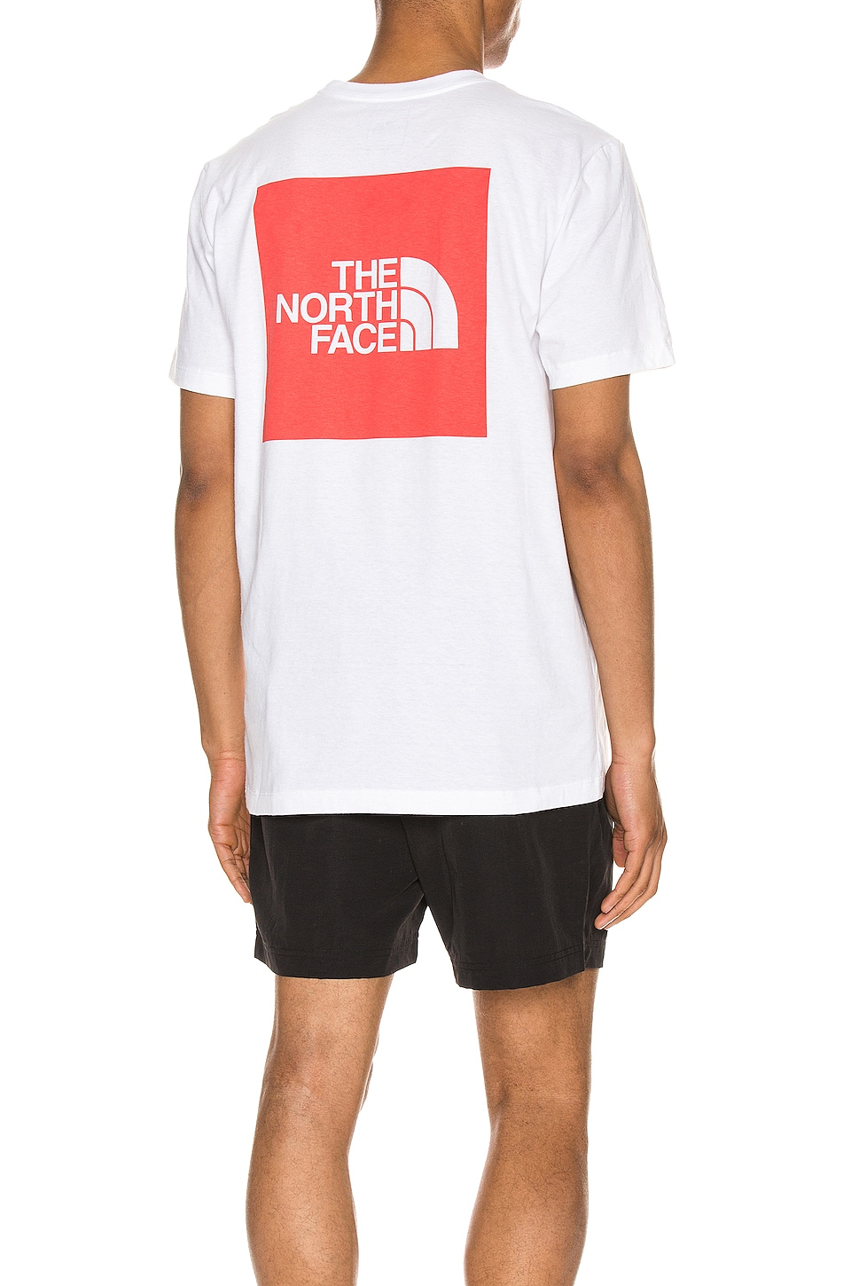 The North Face S/S Red Box Heavyweight Tee en TNF White & TNF Red