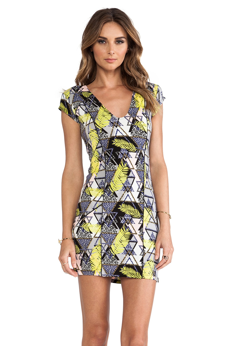 Tallow Neon Blonde Dress in Trop