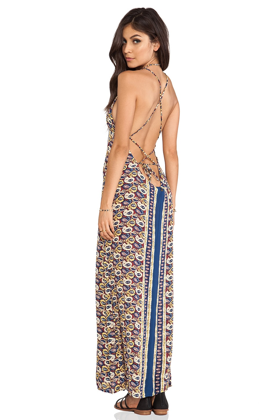 Tallow Verve Maxi Dress in Tiki Paisley
