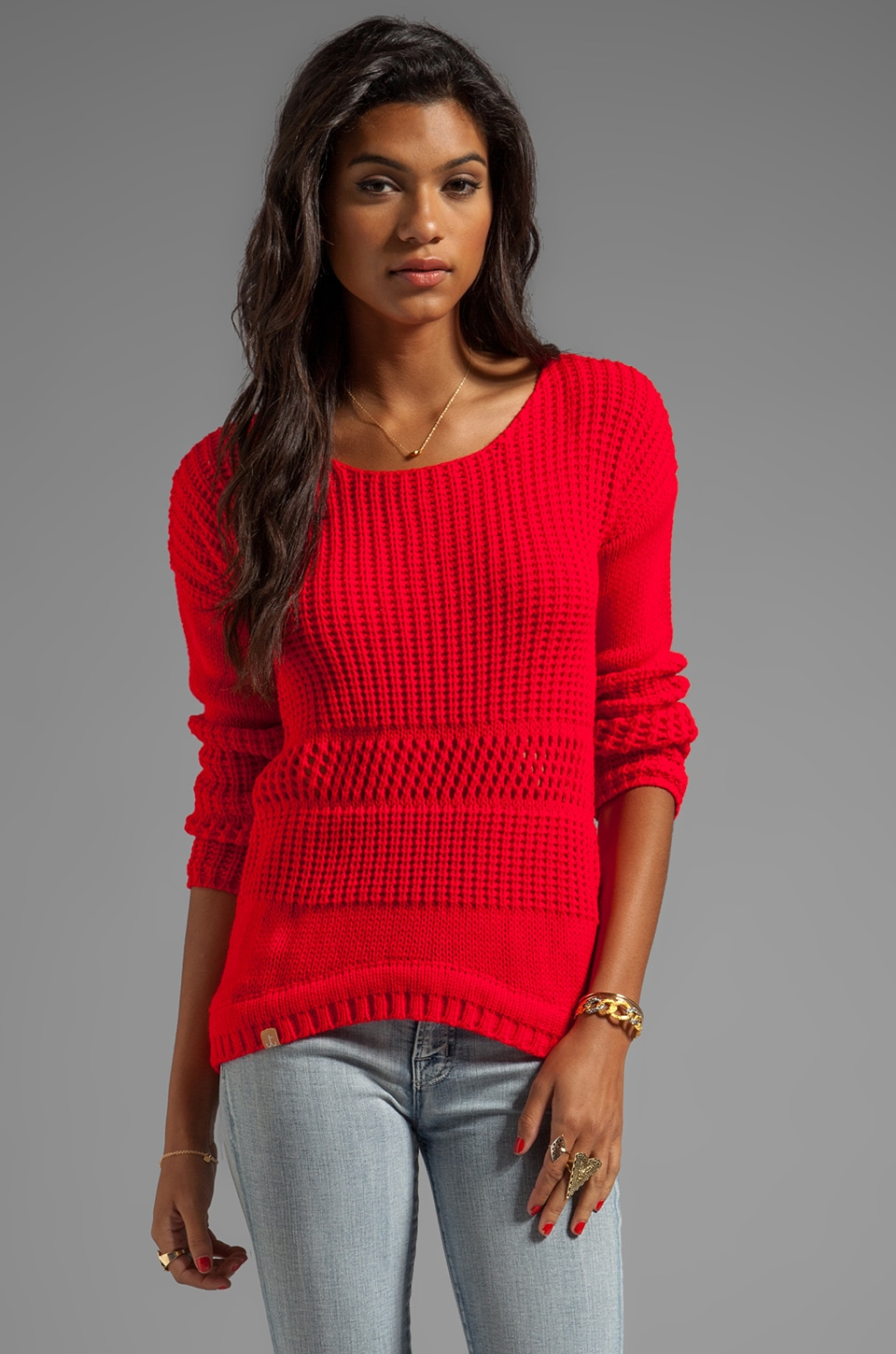 Tallow Kubu Slouch Jumper in Red Lychee