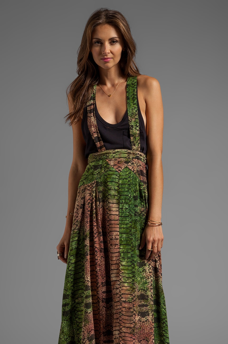 Tallow Pandanus Maxi Skirt in Multi