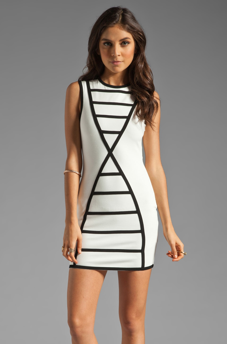 Talulah Melodies Dress in Cream/Black