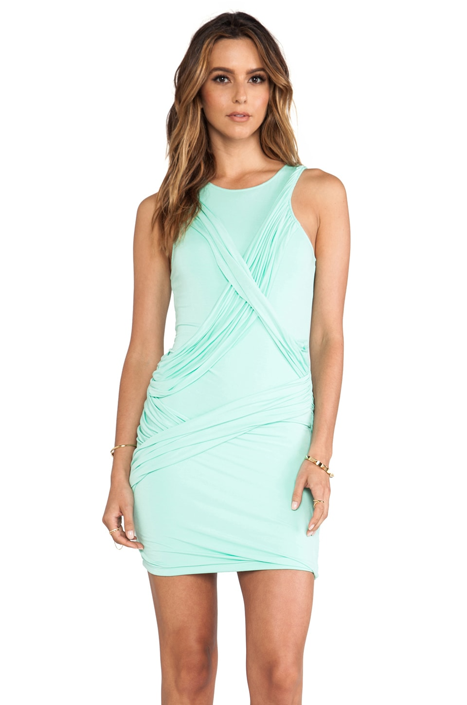 Talulah Swing On High Neck Body-Con Dress in Spearmint