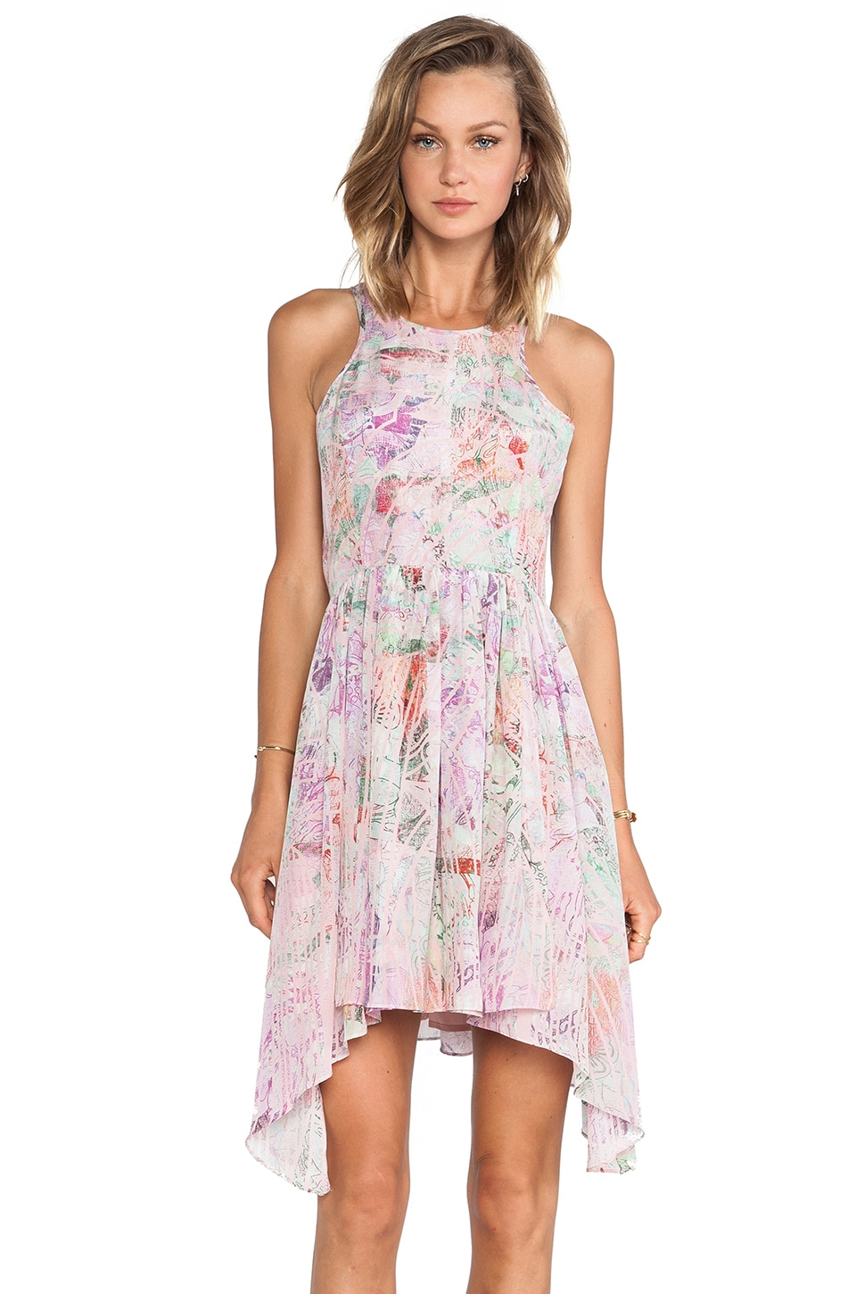 Talulah Moon Stars Dress in Pink Floral