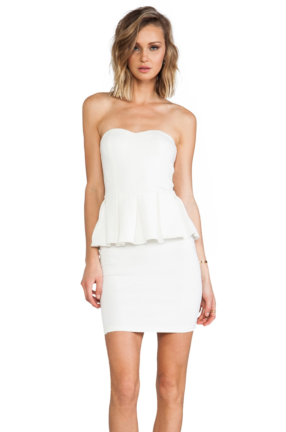 Talulah Spirit of the Wind Peplum Dress in White