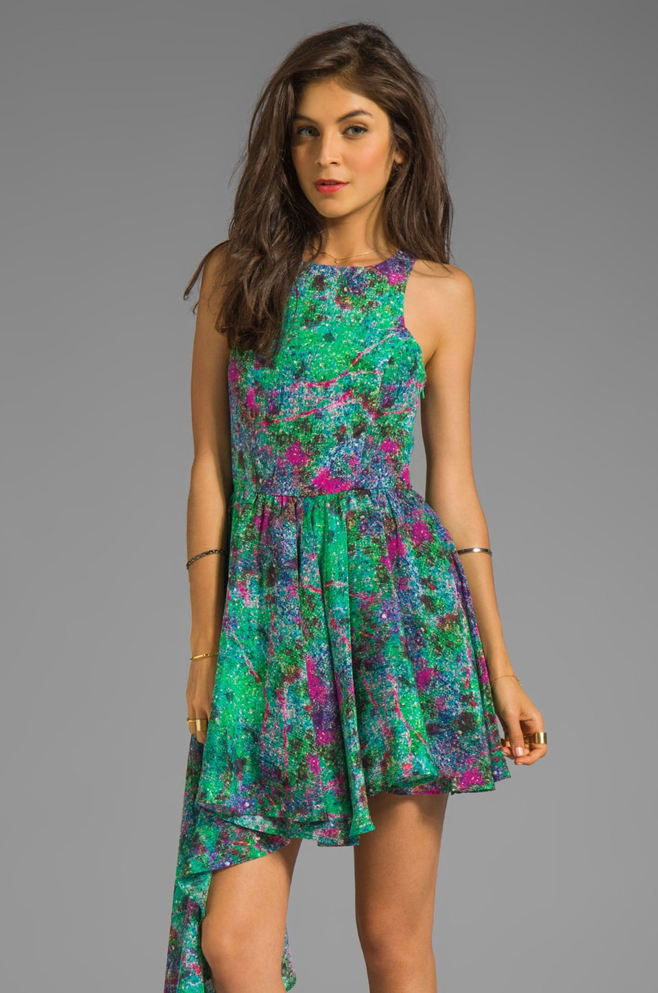 Talulah The Magic Stone Dress in Orchid Slate Print