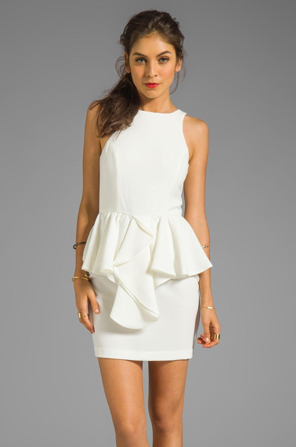 Talulah The Jasper Crystal Dress in Off-White
