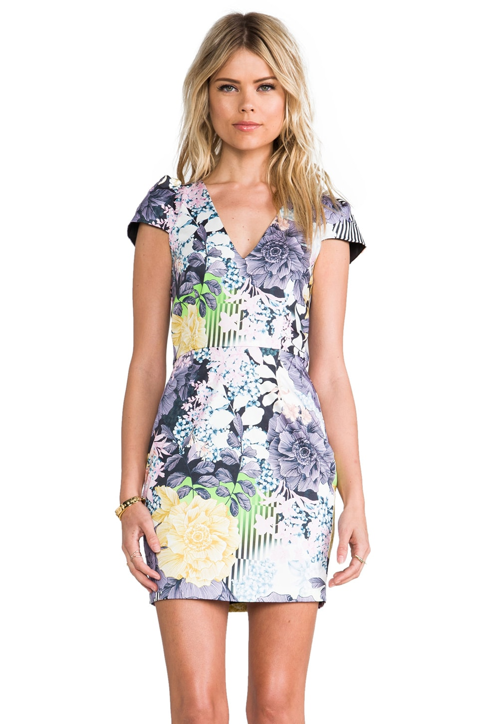Talulah Glistening Rain Dress in Floral