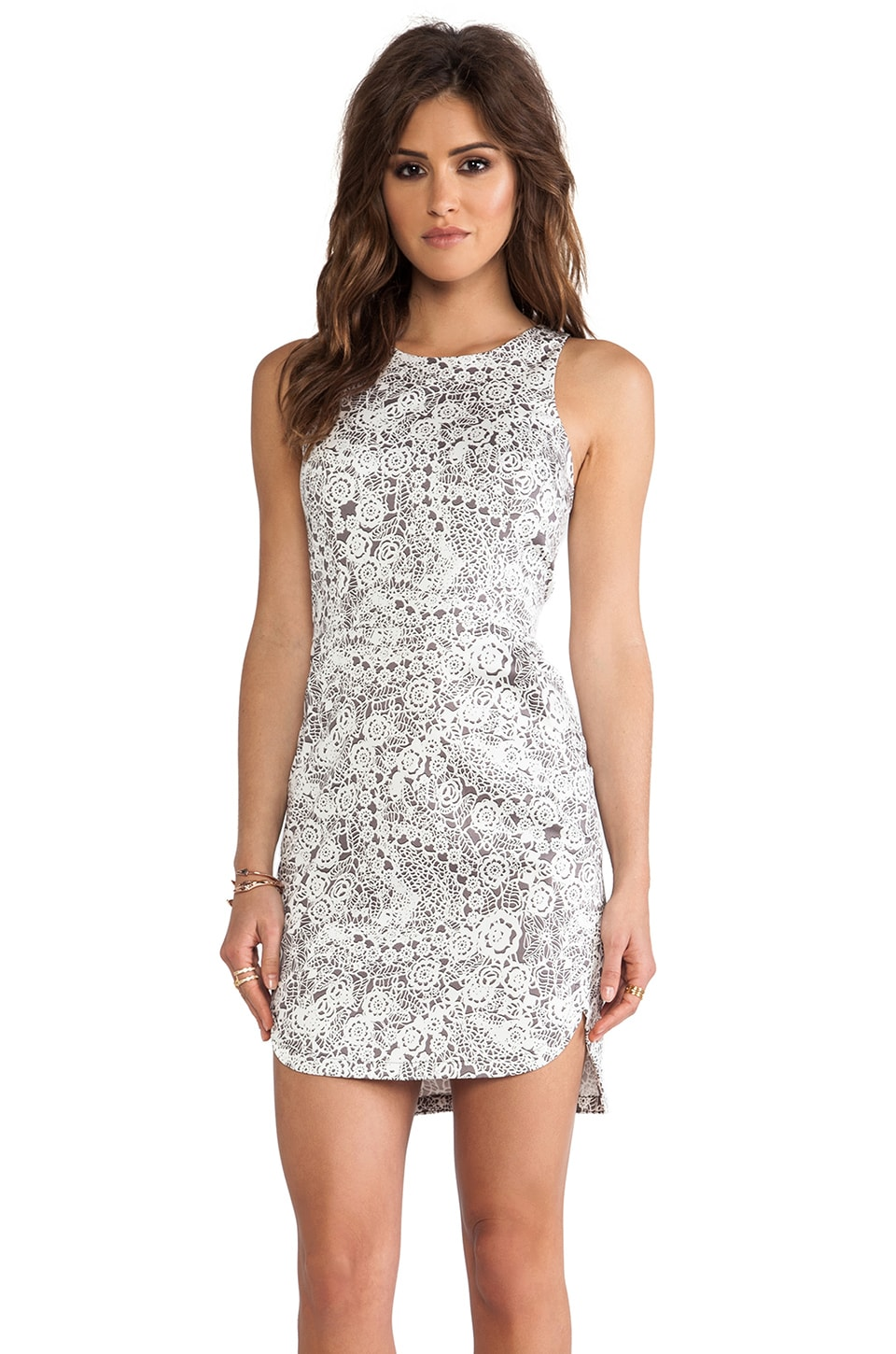 Talulah Sky Spirits Mini Dress in Lace Print