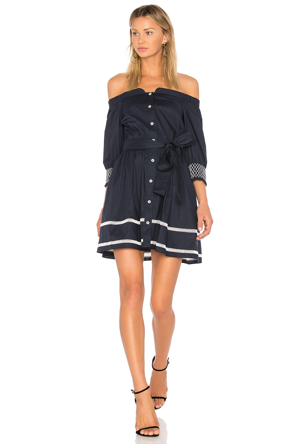 Tanya Taylor Brittany Dress in Navy
