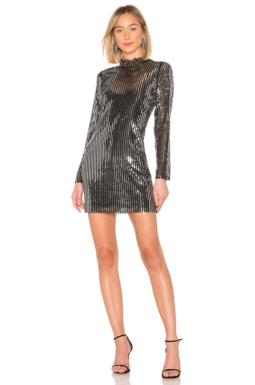 Tanya Taylor Sequin Mini Dress in Black