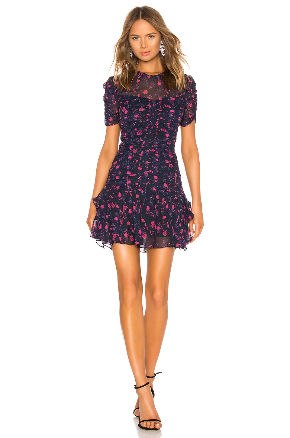 Tanya Taylor Carti Dress in Navy Multi