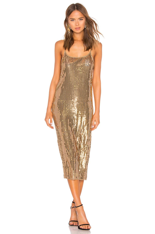 Tanya Taylor Venuss Dress in Gold