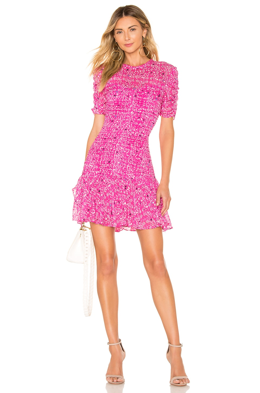 Tanya Taylor Carti Dress in Hot Pink
