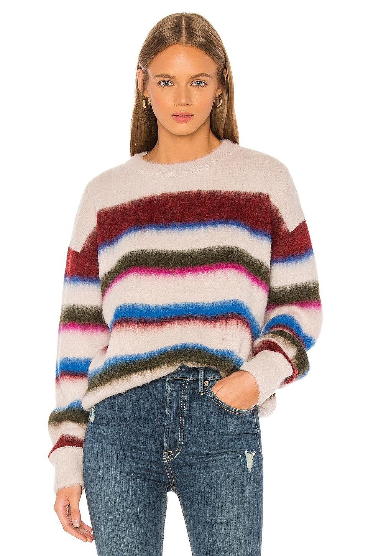 Tanya Taylor Jayne Knit Pullover in Pink Stripe