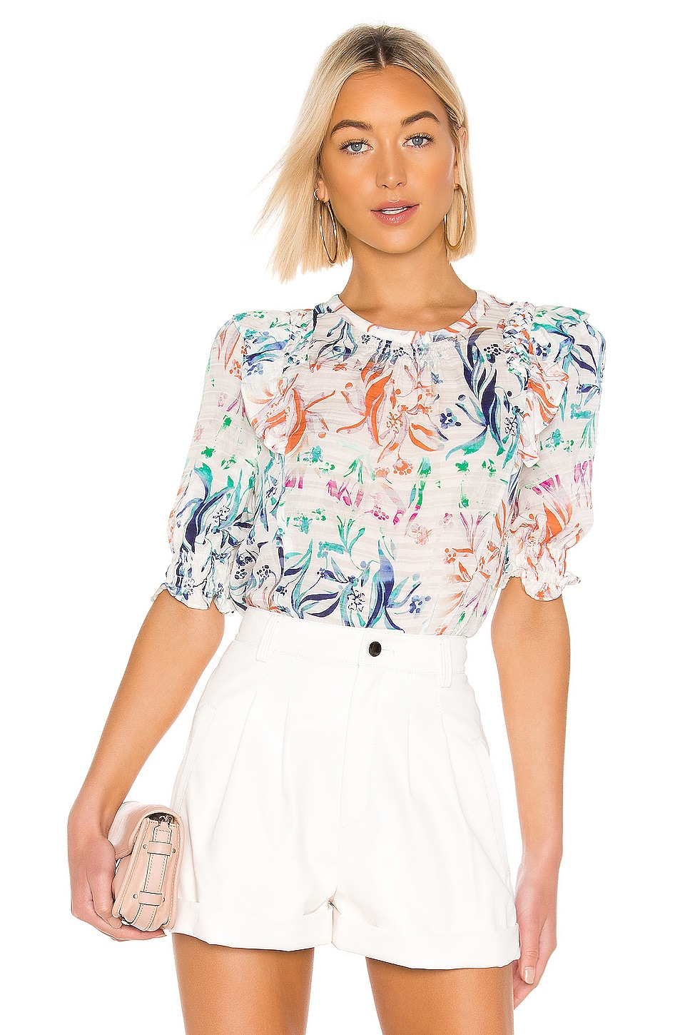 Tanya Taylor Martha Top In Botanical Floral White