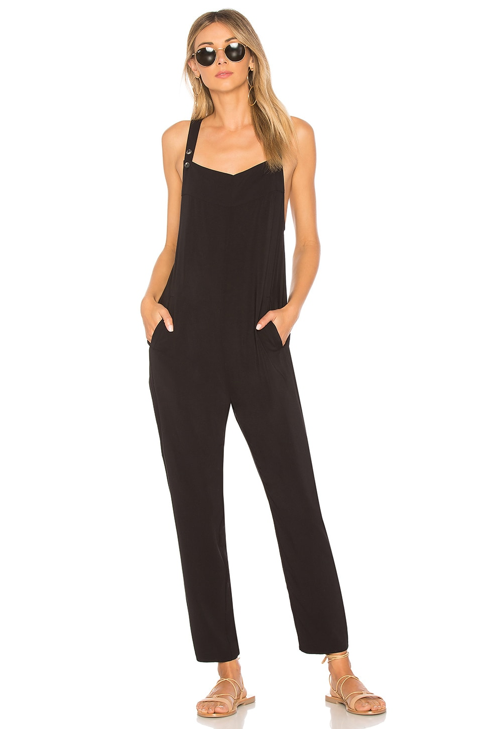 TAVIK Swimwear Elodie Jumpsuit in Black