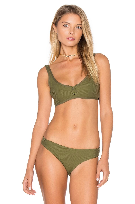 515d0efde1fa5 TAVIK Swimwear Marlowe Bikini Top in Olive Ribbed | REVOLVE
