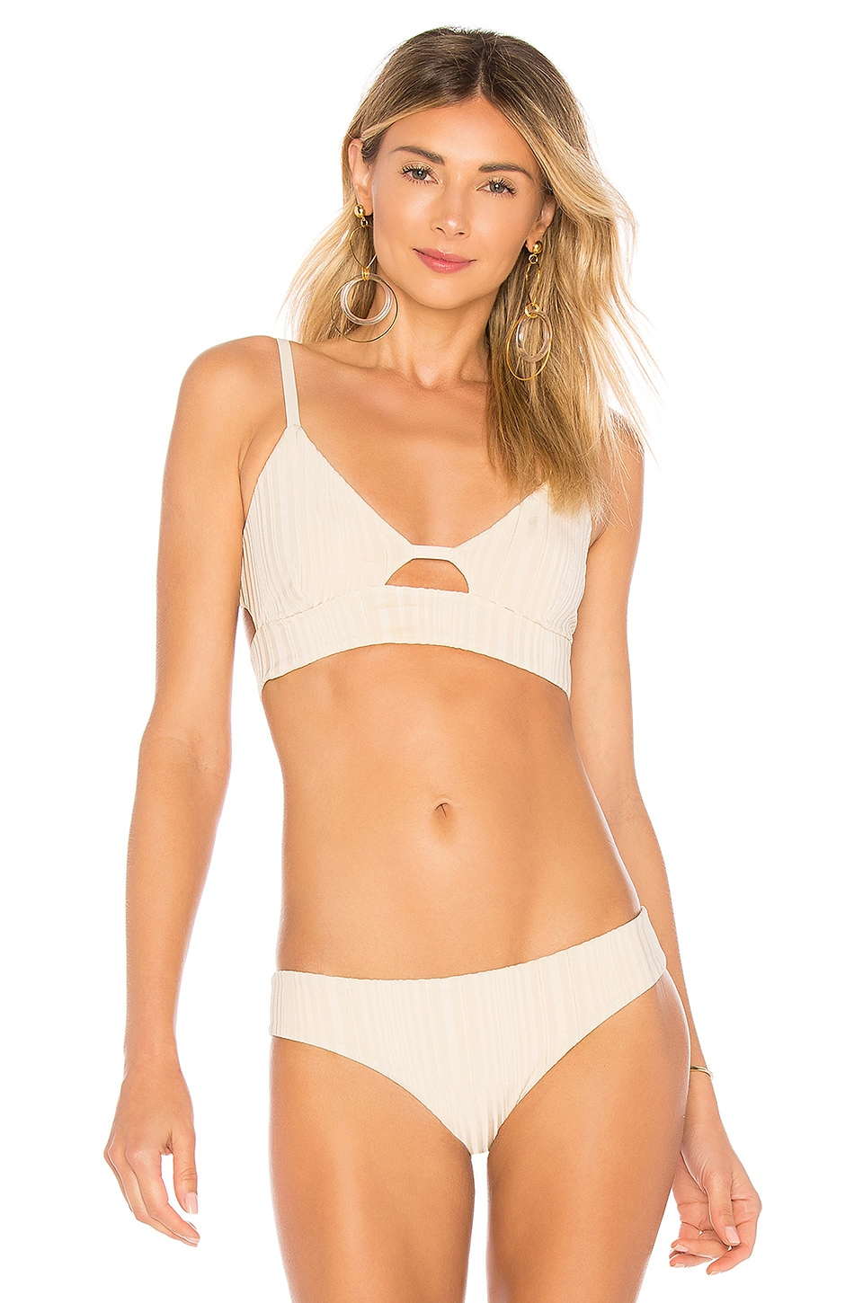 TAVIK Swimwear Juliet Bikini Top in Tapioca