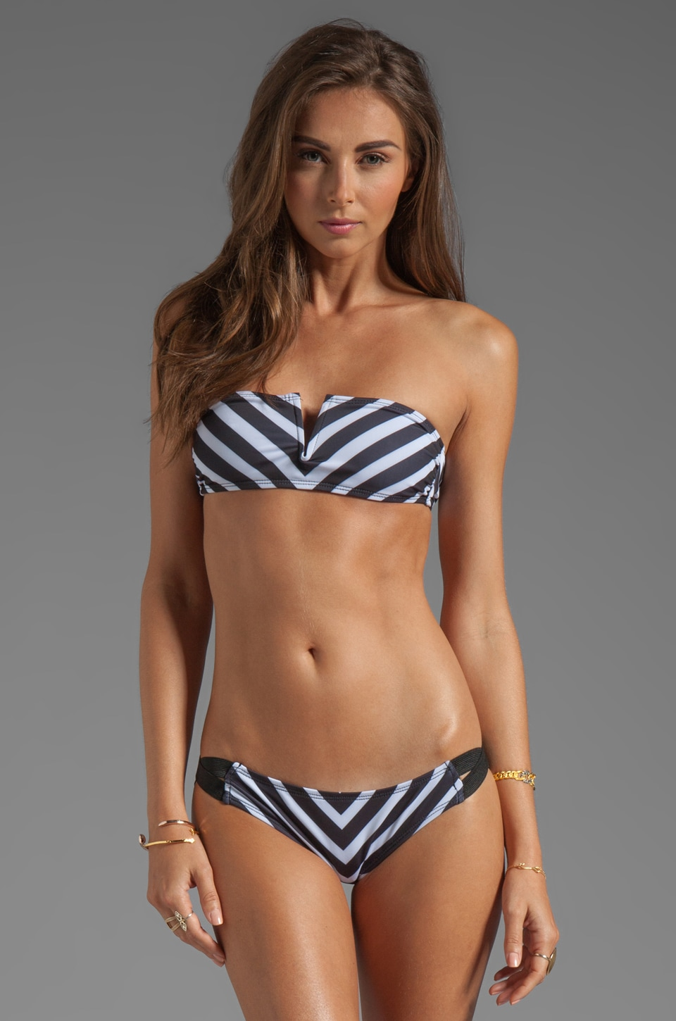 TAVIK Swimwear Linda Bandeau in Stripe