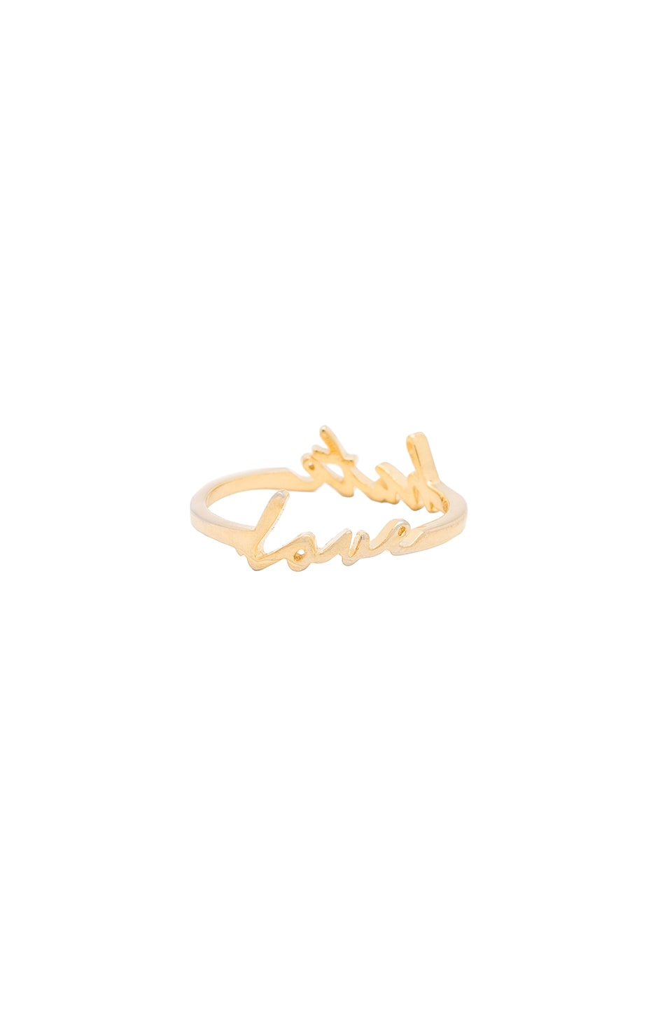 Tawnie & Brina Love Hate Double Sided Ring in Gold