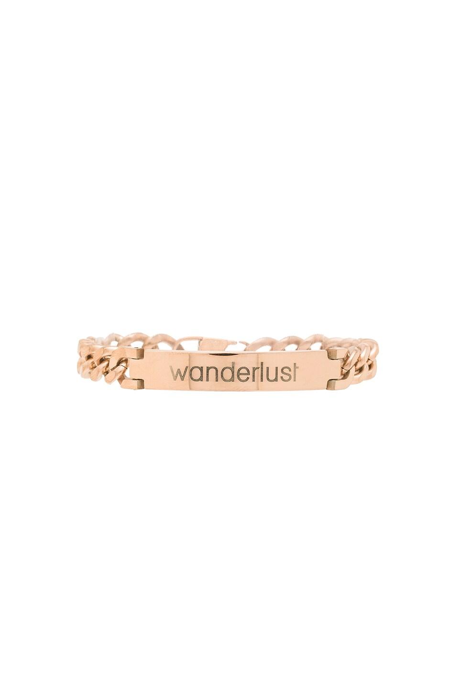 Tawnie & Brina Engraved Wanderlust ID Bracelet in