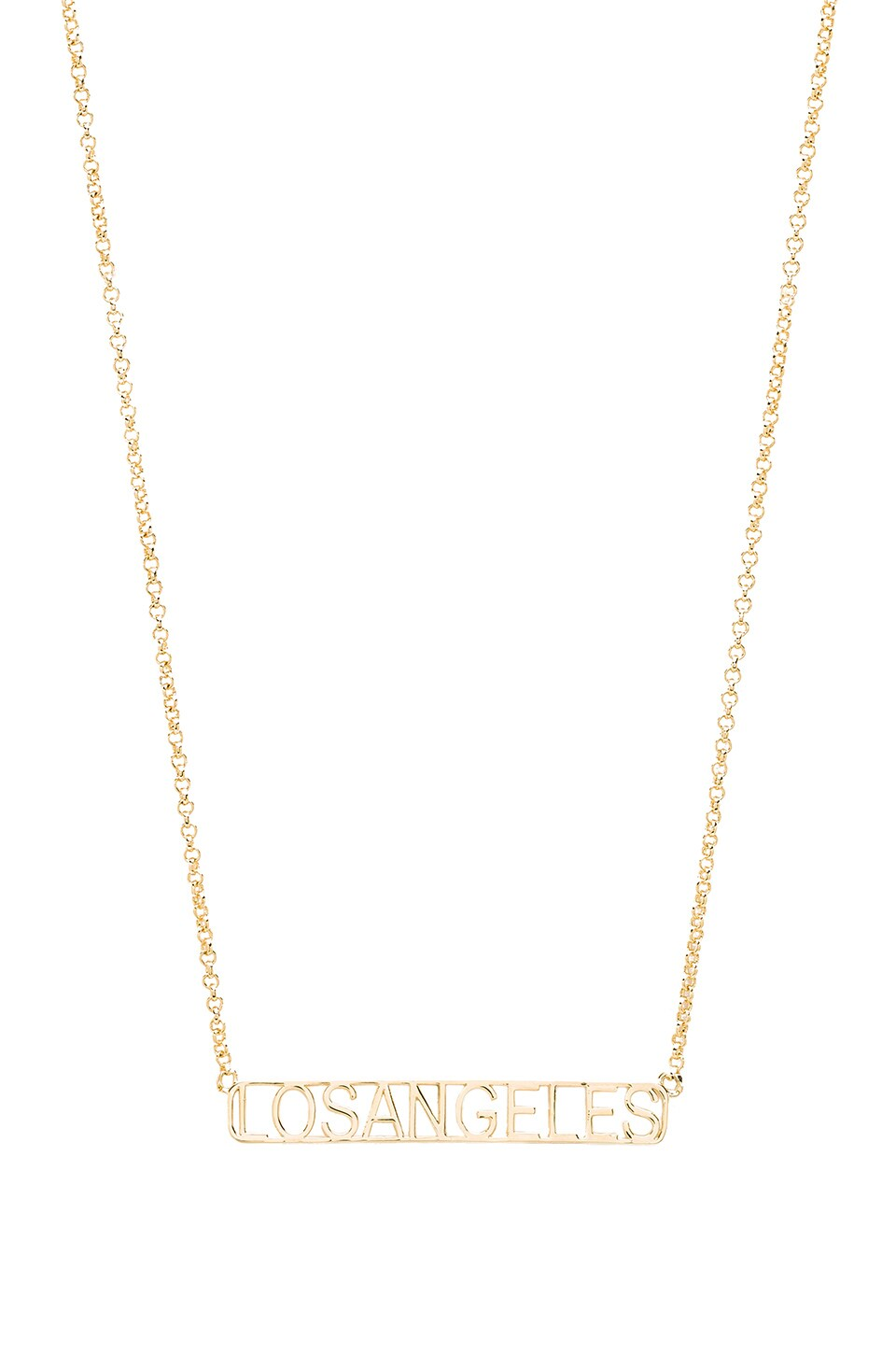 Tawnie & Brina Los Angeles Frame Necklace in Gold