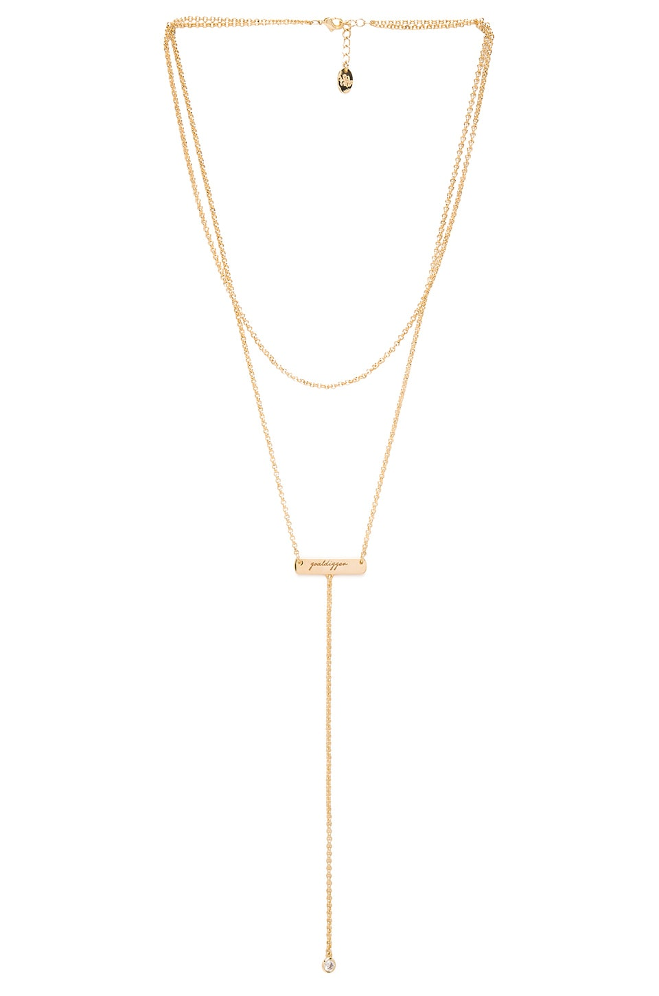 Tawnie & Brina Bar Goaldigger Lariat Necklace in Gold