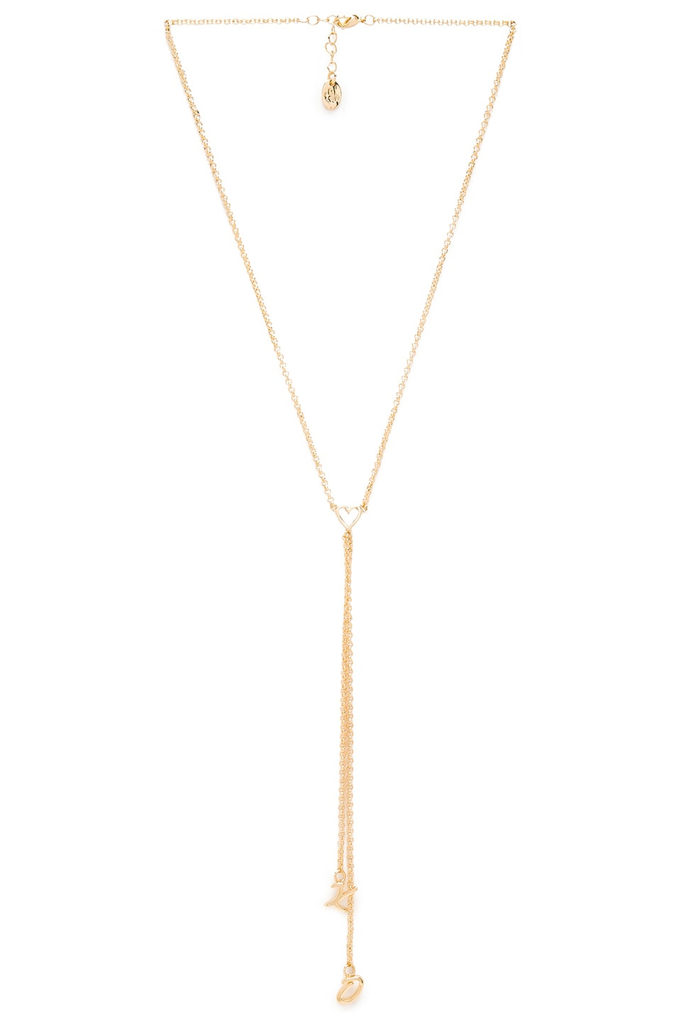 Tawnie & Brina XO Lariat Necklace in Gold