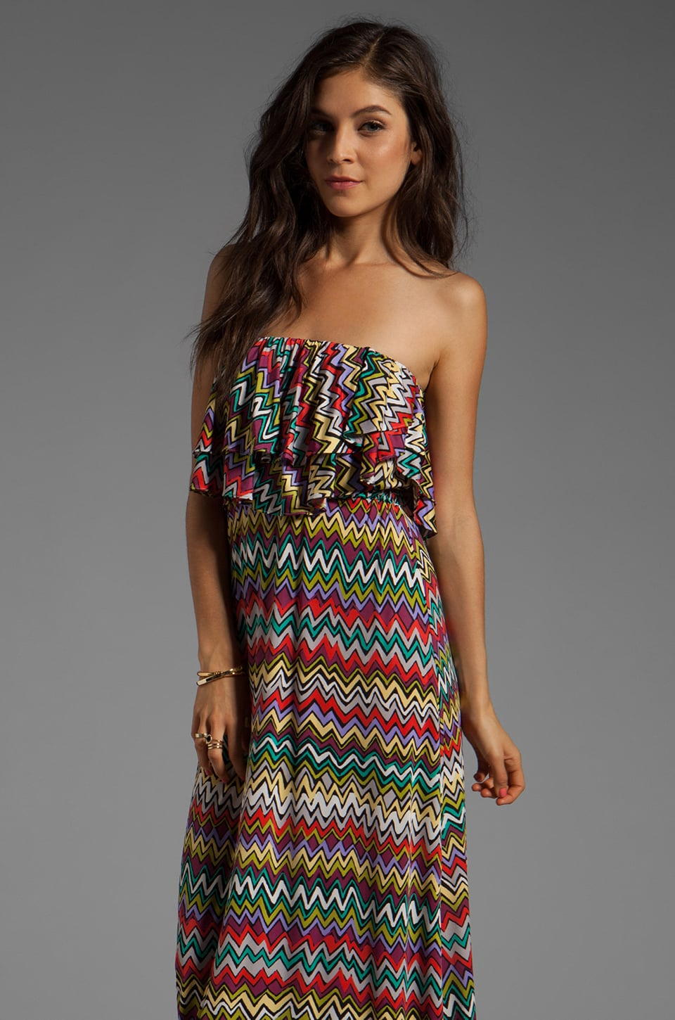 T-Bags LosAngeles Strapless Maxi in Zig Zag