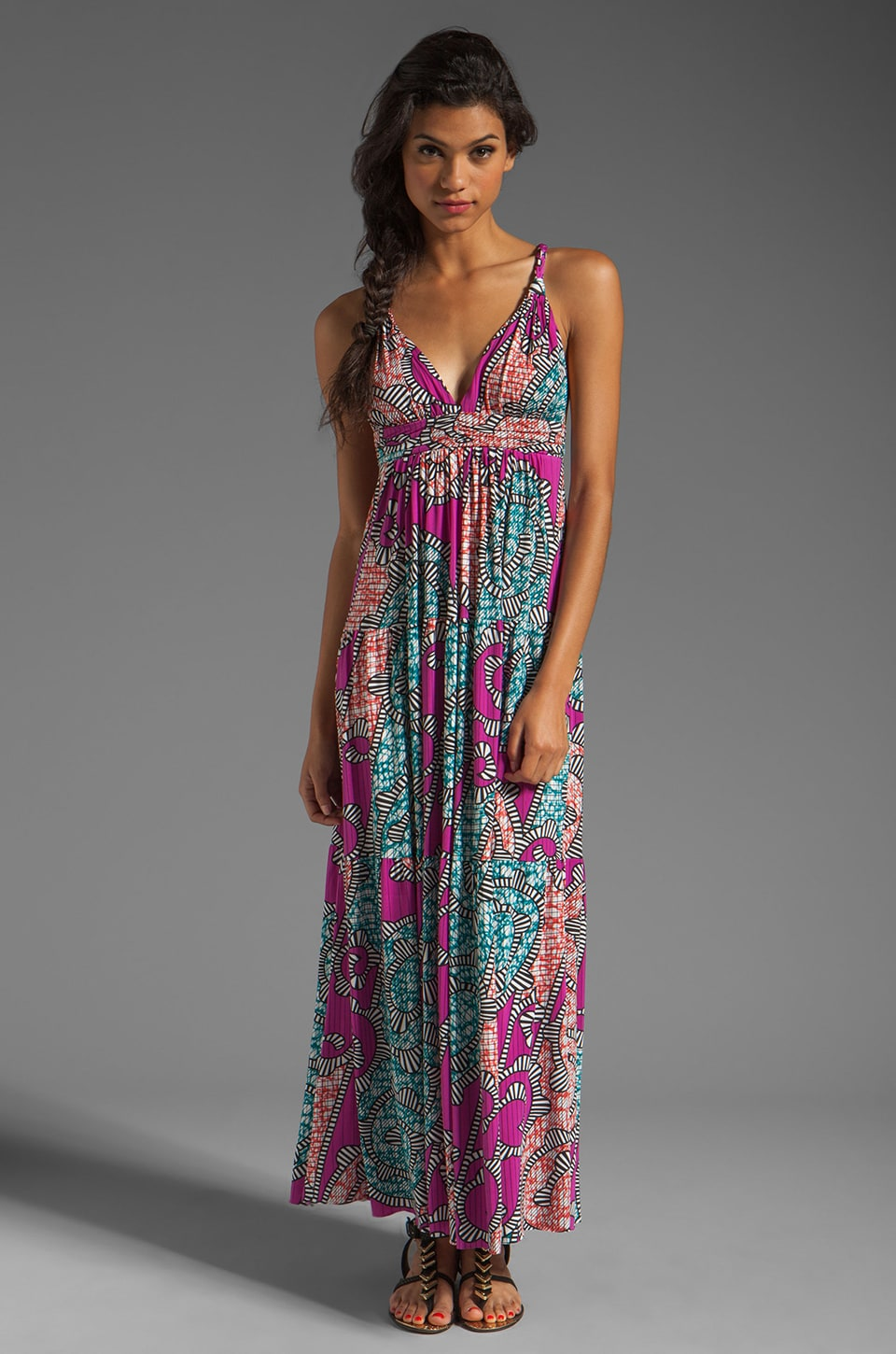 T-Bags LosAngeles Back Detail Maxi in Multi