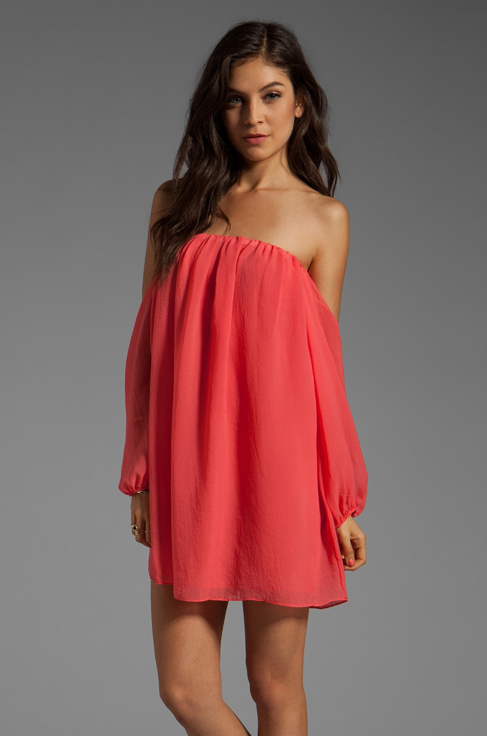 T-Bags LosAngeles Cut Out Dress in Coral