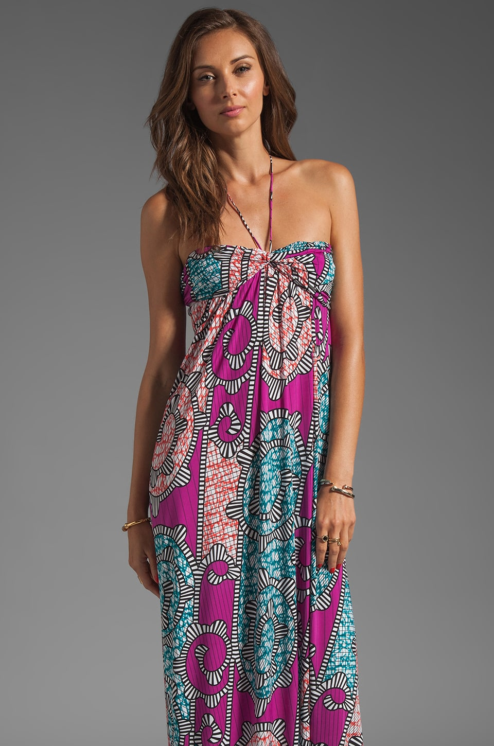 T-Bags LosAngeles Strapless Maxi in Multi