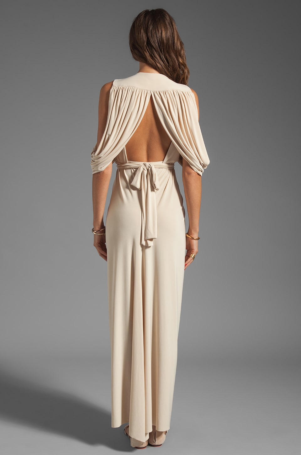T-Bags LosAngeles Drape Back Maxi in Cream