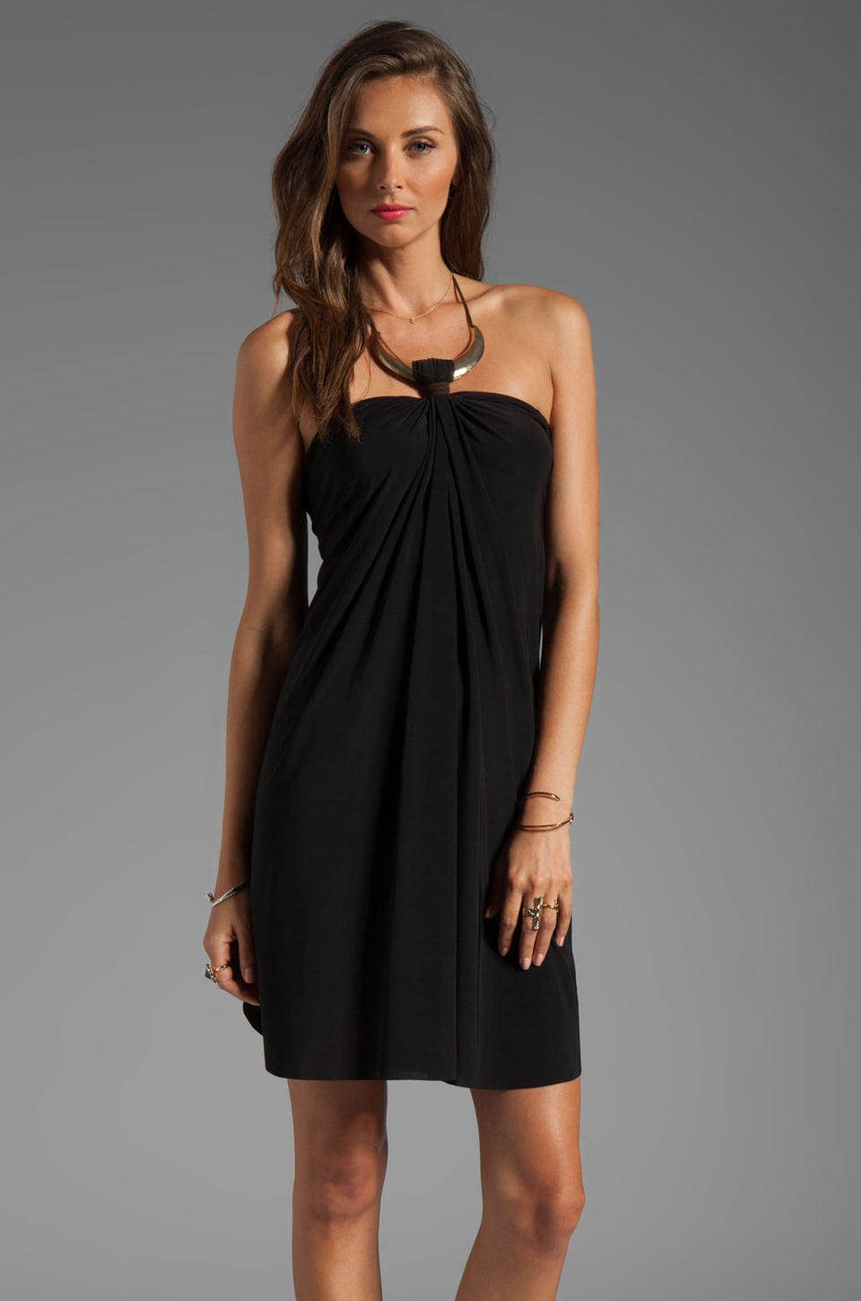 T-Bags LosAngeles Necklace Mini Dress in Black