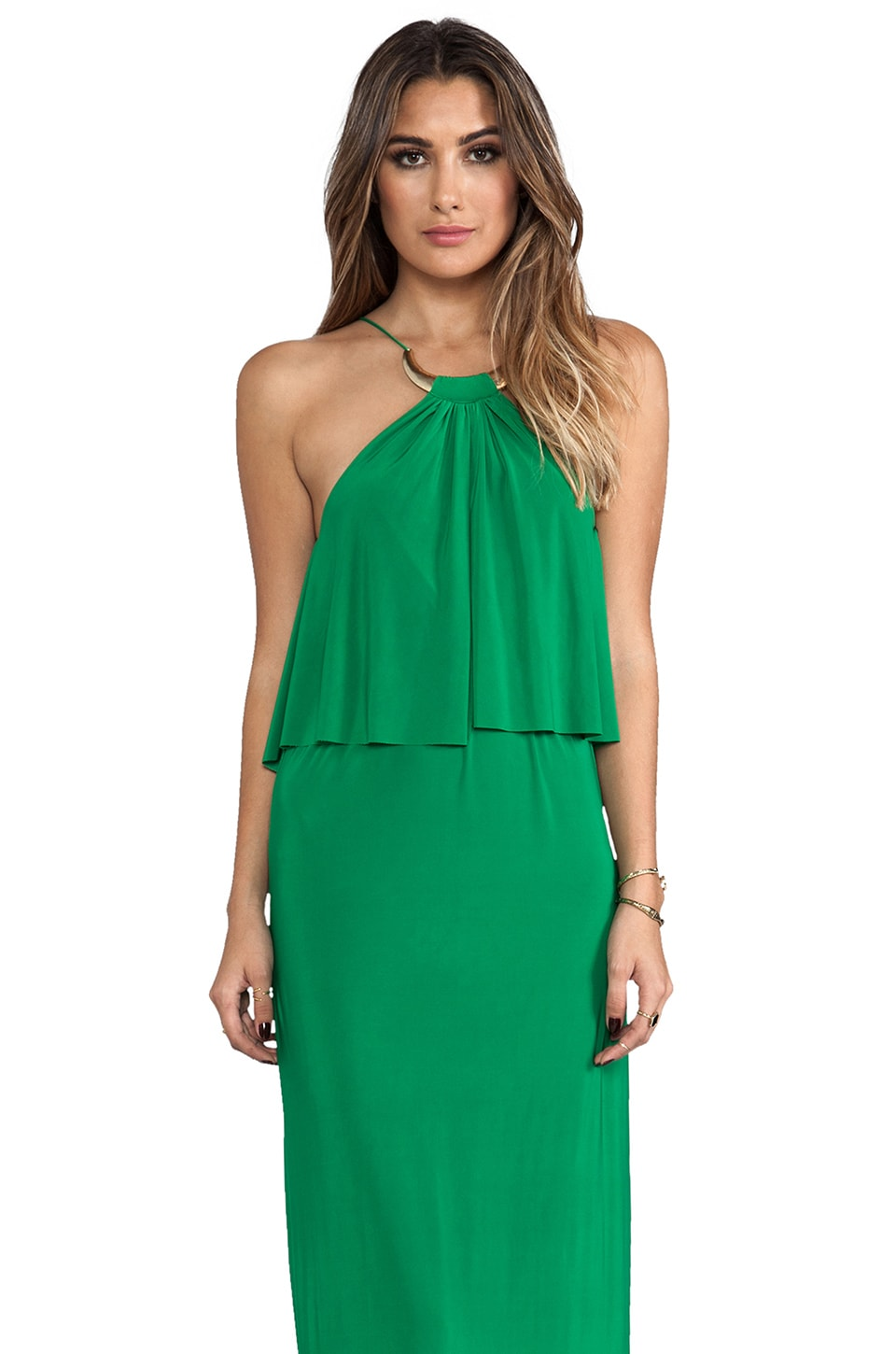T-Bags LosAngeles Necklace Maxi Dress in Green