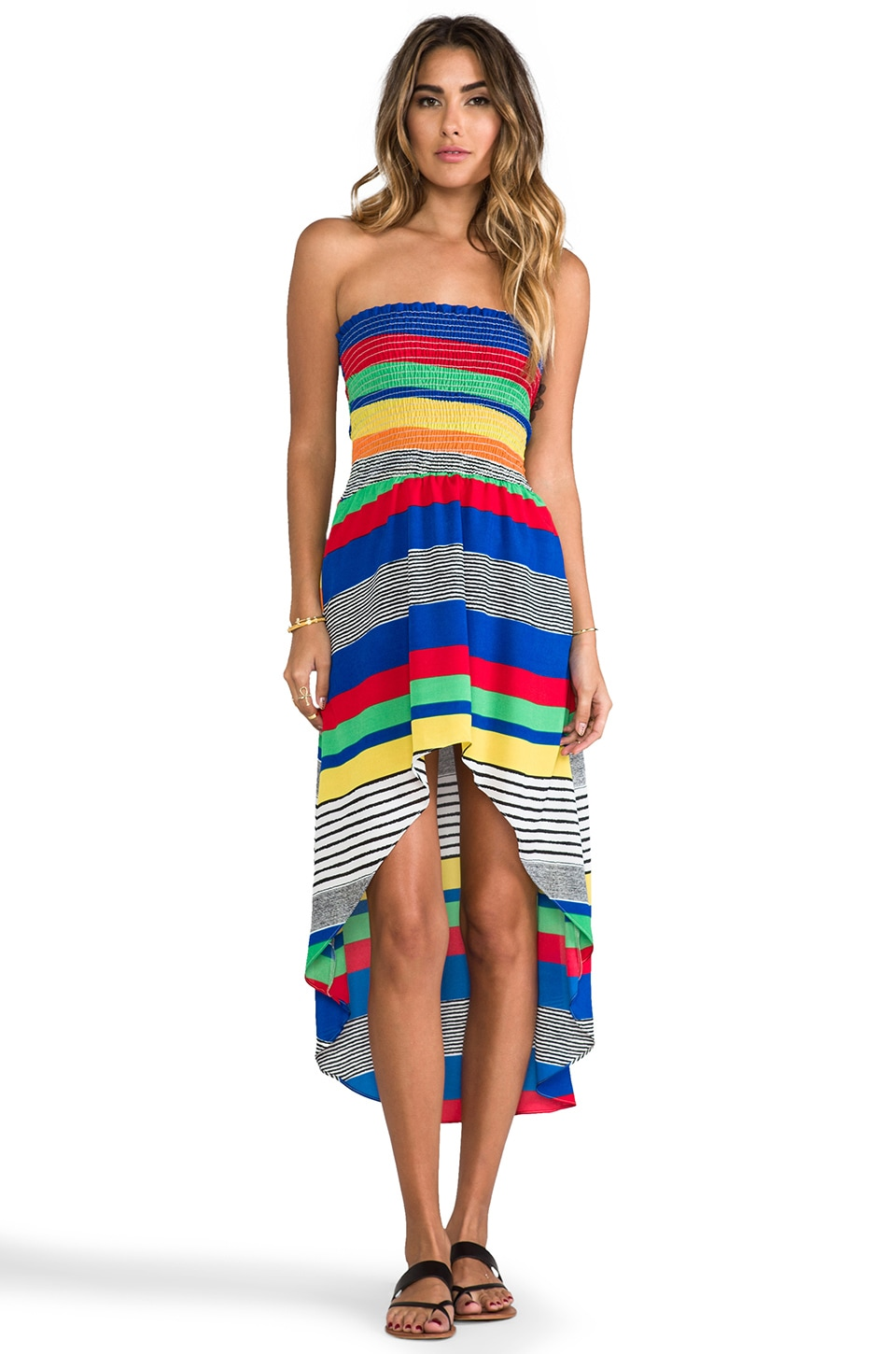T-Bags LosAngeles Hi-Low Dress in Summer Stripe