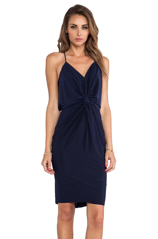 T-Bags LosAngeles Domino Tie Front Mini Dress in Midnight