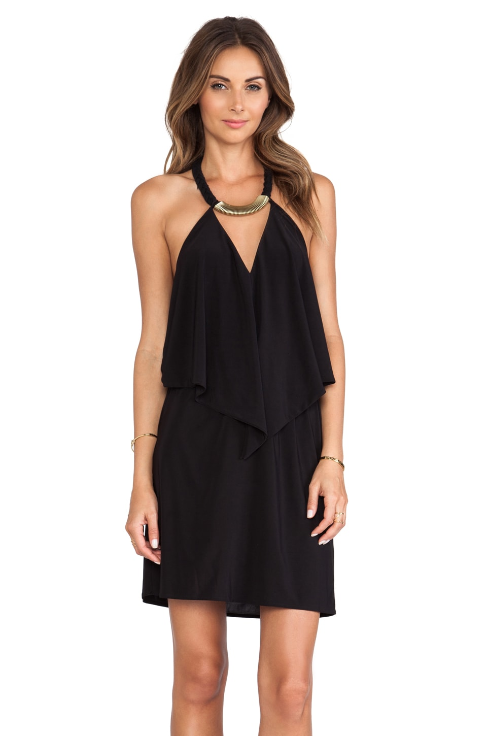 T-Bags LosAngeles Halter Cutout Mini Dress in Black