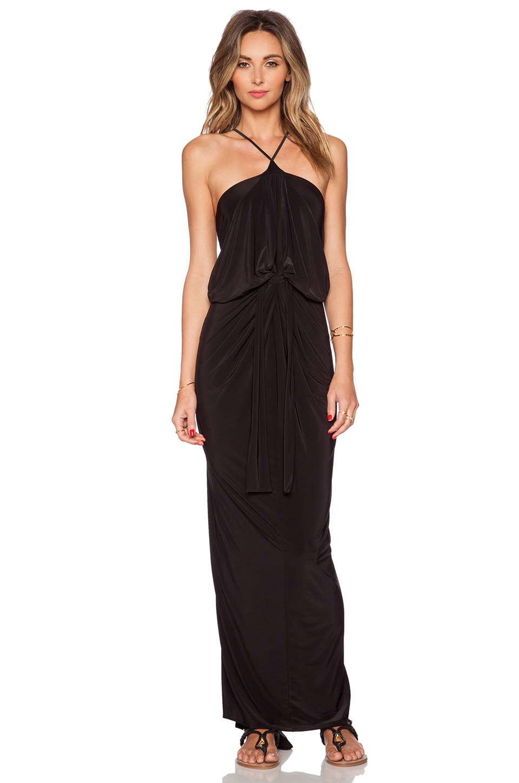 Halter Maxi Dress in Black