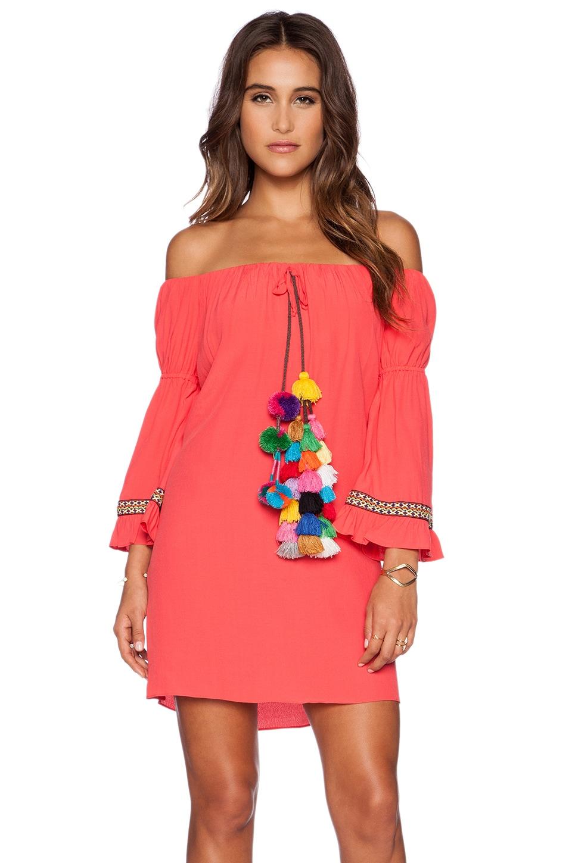 T-Bags LosAngeles Tulum Dress in Crimson