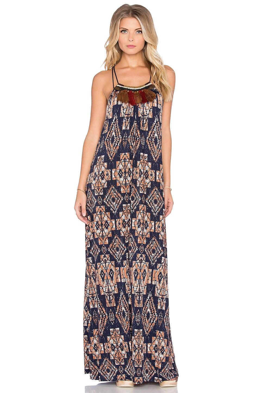 T-Bags LosAngeles Halter Maxi Dress in Desert Night