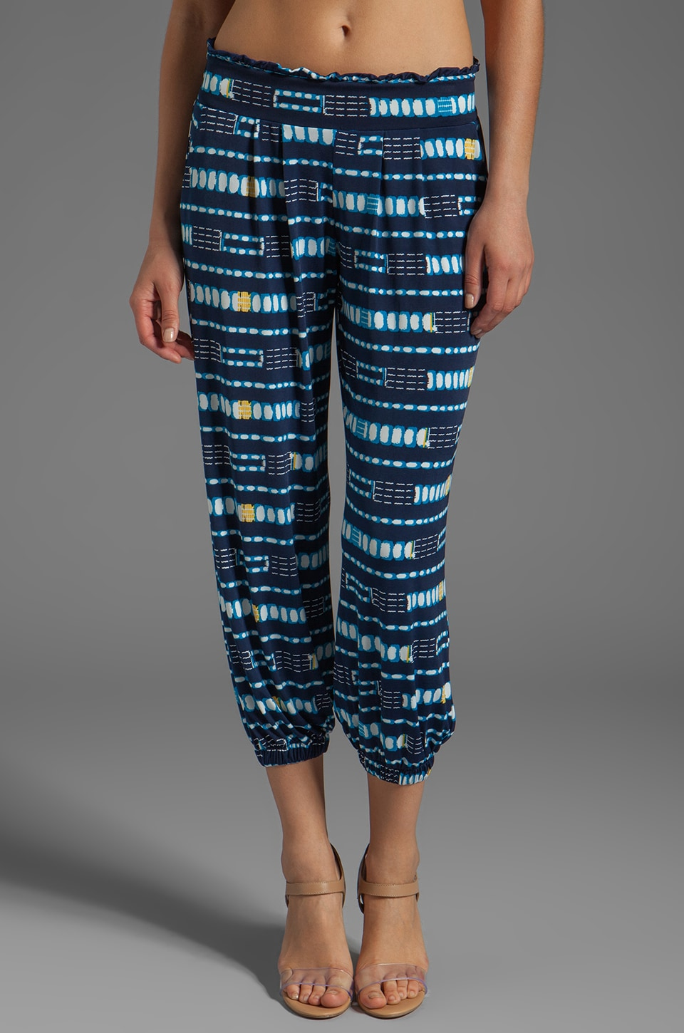 T-Bags LosAngeles Pant in Blue Linear Tribal