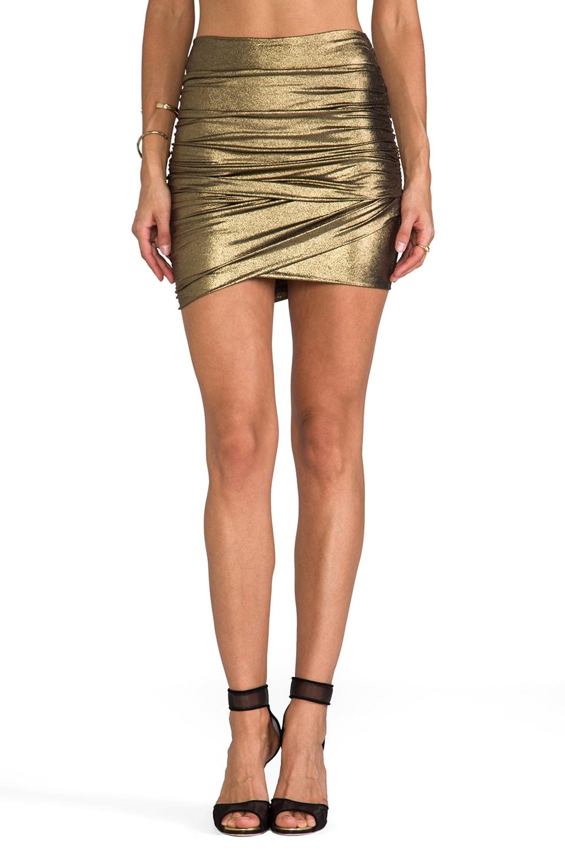 T-Bags LosAngeles Mini Skirt in Gold Metallic