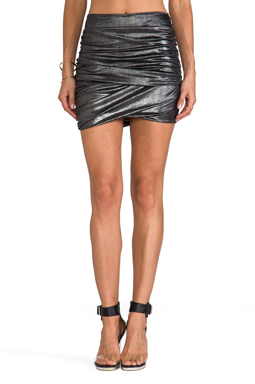 T-Bags LosAngeles Mini Skirt in Silver Metallic